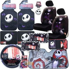 Nightmare Before Christmas Low Back Car Seat Covers Accessories ...