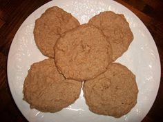 """Low carb pb cookies using """"medifast"""" high protein oatmeal packet. Could substitute any low carb, high protein oatmeal powder- single serving. Sounds yum!"""