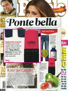 We spotted #MegaEffects Mascara in People En Español's July issue.
