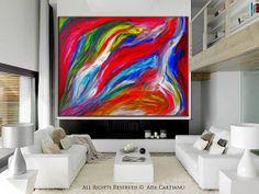 Feelings Abstract Painting GALLERY ARTWORK  24x36 by ArtStage, $125.00
