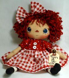 'freckles'...raggedy dolls byPatC...I love raggedy dolls.