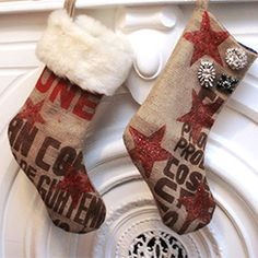 There's still time to create fun and festive Christmas Stockings with this simple DIY tutorial.