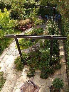 A prospective landskaps-/trädgårdsarkitekt from Alnarp revisited totally a terraced garden in Lund. Trist lawn requiring mowing became a flourishing and exciting area that requires little maintenance. #backyardurbangardening