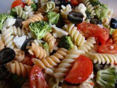 3 Color Healthy Pasta Salad. This easy to make pasta salad is healthy and takes under 30 minutes to prepare! The tricolor noodles make this tasty dish a standout presentation.