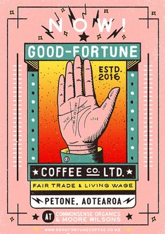 Poster design for Good Fortune Coffee Co.