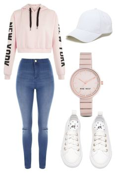 """""""NEW YORK"""" by xxbubblesxx319 ❤ liked on Polyvore featuring Jane Norman, Nine West and Sole Society"""