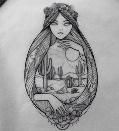 Black and white tattoo