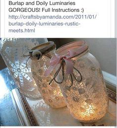 Fall Craft,  Jar Decor