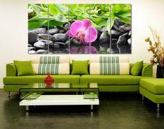 Orchid & Green Photo Canvas Print  Flower Framed от GiftVilage