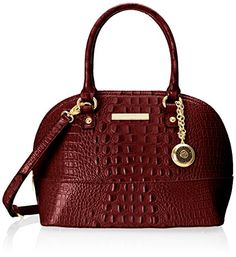 Anne Klein Pretty In Pink Dome Satchel Top Handle Bag, Bordeaux, One Size $89.00 & FREE Shipping.