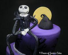 Fondant Cake Toppers, Fondant Figures, Jack Skellington Cake, Nightmare Before Christmas Cake, Christmas Cake Topper, Cake Decorating, Special Occasion, Birthday Cake, Handmade Gifts