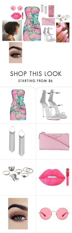 """tropical"" by nalawashington ❤ liked on Polyvore featuring Giuseppe Zanotti, Miss Selfridge, Givenchy, Charlotte Russe, Lime Crime, Ray-Ban and ban.do"