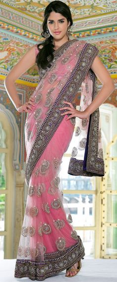 Buy Latest Trends Net Custom Made Pink Cocktail Party Saree in USA and Canada by Trendylehenga Couture Buy Online Designer Collection, :Call/ WhatsApp us 77164 . India Fashion, Asian Fashion, Ethnic Fashion, Beautiful Saree, Beautiful Dresses, Beautiful Clothes, Indian Dresses, Indian Outfits, Gris Rose