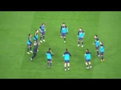 Calentamiento FC Barcelona - YouTube