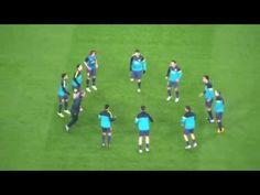 Calentamiento FC Barcelona - YouTube