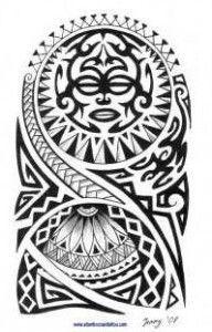 tribal maori hombro plantilla - Buscar con Google