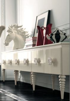 White sideboard by AltaModa - eclectic - dining room - other metro - Imagine Living