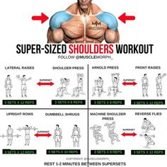 Guidance To Help You Reach Maximum Fitness Fitness Workouts, Tips Fitness, Weight Training Workouts, Body Fitness, Fun Workouts, At Home Workouts, Fitness Diet, Boulder Shoulder Workout, Gym Shoulder Workout