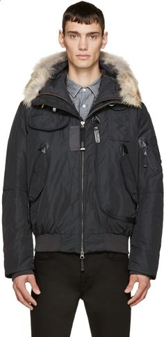Parajumpers Grey Down Fur Gobi Coat