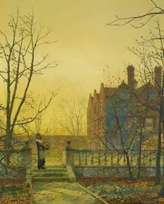 Autumn Gold, 1880  John Atkinson Grimshaw (6 Sep 1836–13 Oct 1893)