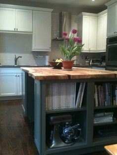 Contemporary Kitchen Islands Toronto Live Edge Elm Slab Island Throughout Decor