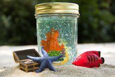 Onder-water-potje / Under the Sea Glitter Globe