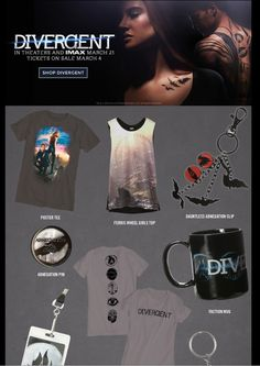 DIVERGENT ALLEGIANT FACTION SYMBOLS T-Shirt Black NEW 100/% Authentic