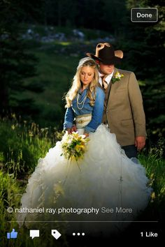 idea for a wedding dress I would just have to tweak it a Little Denim Wedding Dresses, Outdoor Wedding Dress, Wedding Attire, Wedding Gowns, Western Wedding Dresses, Wedding Bells, Fall Wedding, Rustic Wedding, Dream Wedding