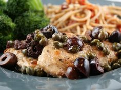 Pork Tenderloin with Olives and Capers