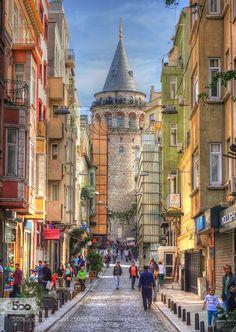 Galata Tower - Pinned by Mak Khalaf . . . Travel architecturebeyoğlubuildingcitycityscapegalatagalatatoweristanbulkaraköyskystreettaksimtowerturkeyurban by erkanadiguzel