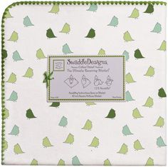 Swaddle Designs Ultimate Receiving Blanket - Little Chickies, Pure Green