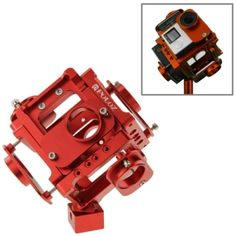 PULUZ 6 in 1 CNC Aluminum Alloy Housing Shell Protective Cage with Screw for GoPro HERO4 /3+(Red)