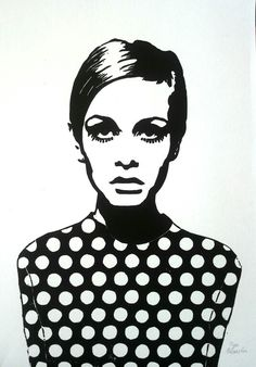 Twiggy - Lino cut / lino print                                                                                                                                                                                 More