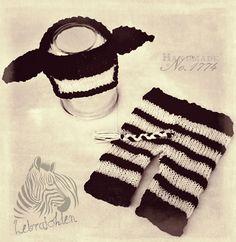 Zebra - Babyprops - Handmade - black & white - schwarz & weiß - Baby - Gestrickt - handarbeit - ideas