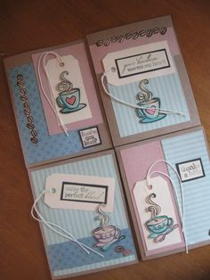 Latte Love greeting cards - handmade too!