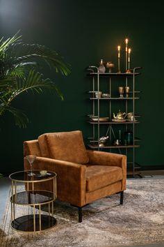 €495,00 - Houda 1-zit zetel Vintage Sofa, Living Room Sofa Design, Living Room Designs, Single Couch, Canapé Simple, Cosy Sofa, Ottoman Footstool, Sofa Seats, Piece A Vivre