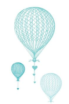 GiftAmor Hot Air Balloon Wedding Card