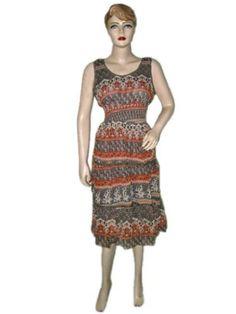 Womens Dress- Sexy Sleeveless V-neckline Floral Print Chiffon Dress Bohemian Clothing Mogul Interior, http://www.amazon.com/gp/product/B008Z91Z16/ref=cm_sw_r_pi_alp_n1pmqb0HCS13W