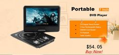 7 inch TFT Screen Display Portable DVD EVD Player TV VCD CD MP3/4 USB GAME Mobile TV For EU Socket Plug Rechargeable Battery