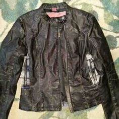 Faux leather jacket Great condition. Worn once or twice Jackets & Coats Blazers
