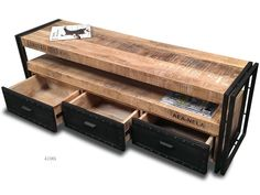 Tv stand 4100i, Colour: Light Golden, Mango Wood and Burned Iron Frames, Raw Industrial Design, Weight: 50 kg, Measurements: W: 150 cm / H: 50 cm / D: 40 cm , Other standard measurements:W: 170 / H: 50 / D: 40 or W: 105 / H: 50 / D: 40 Delivery 1 week if in stock , otherwise 3 months . Minimum order quantity 5 pieces .Delivery everywhere .http://industrialdesign.bigcartel.com