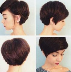 20 Short Cropped Haircuts: #15. Thick Brown Short Cropped Hair