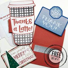 Free Silhouette Designs: Holiday Gift Card Holders (Set of 4)