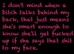Lmao!! Ain't this the truth, talk on as soon as you grow balls come talk to me face to face ;)
