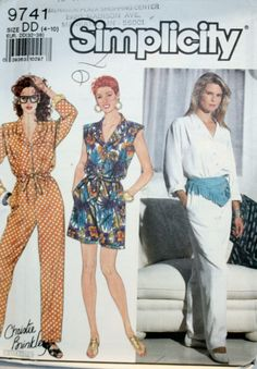 172410a206b8 Misses Jumpsuit Sewing Pattern - Misses Romper Sewing Pattern - Simplicity  9741 - New - Uncut - Size 4 - 6 - 8 - 10