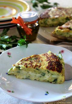 Tortino filante zucchine e patate in padella