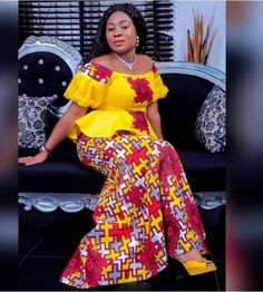African Wear Dresses, African Fashion Designers, Latest African Fashion Dresses, African Attire, African Print Clothing, African Print Fashion, Nigerian Dress Styles, African Lace Styles, African Women