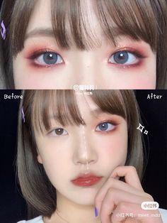 Makeup Tips, Beauty Makeup, Hair Makeup, Asian Makeup Tutorials, Cute Makeup, Makeup Looks, Ulzzang Makeup, Korean Eye Makeup, Makeup Makeover