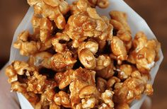 Snack on everyone's favorite sweet and crunchy treat with a recipe for easy homemade caramel popcorn.