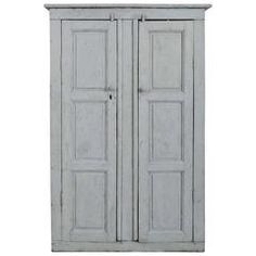 Early 19th Century French Blue Painted Cupboard